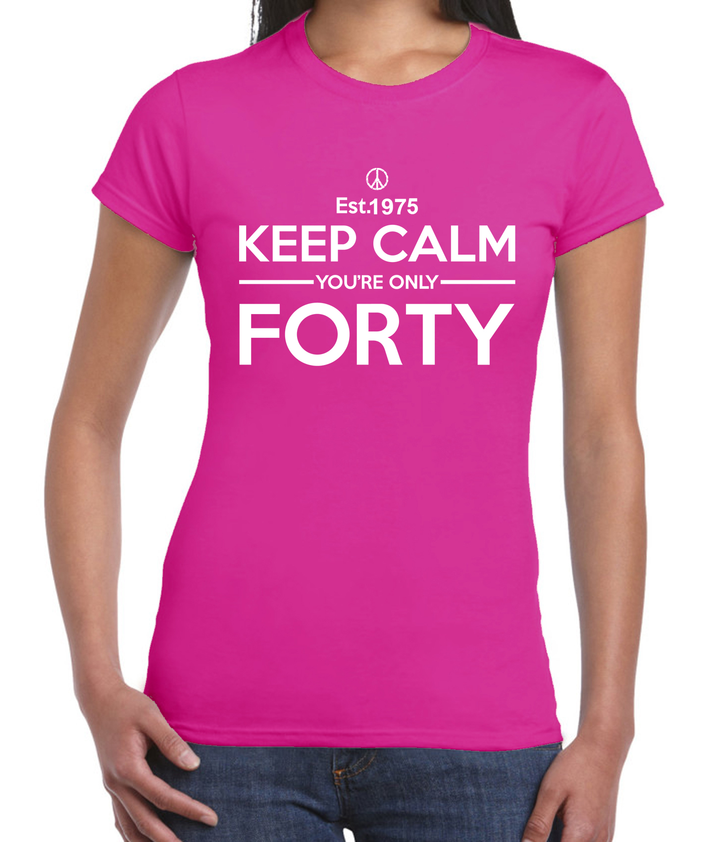 KEEP-CALM-YOUR-ONLY-FORTY-WOMENS-T-SHIRT-40th-Birthday-Present-Gift